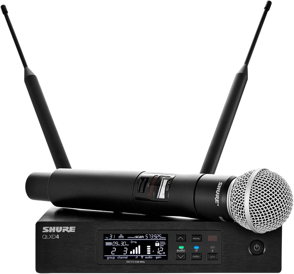 Shure QLX-D Digital Wireless System with SM58 Dynamic Microphone Band L50 by Shure