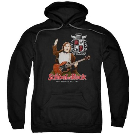- Trevco School Of Rock-The Teacher Is In Adult Pull-Over Hoodie, Black - Large