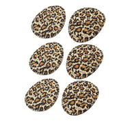 3 Pairs Leopard Printed High Heel Shoes Cushion Front Pads Insoles Black Brown