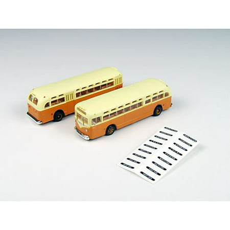 N Gmc Tdh 3610 Bus  Orange W Cream Roof  2   Features Include  Accurately Scaled To 1 160Th Scale By Classic Metal Works