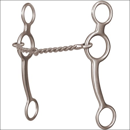 "6 1/2"" CLASSIC EQUINE PERFORMANCE SERIES  RING GAG TWISTED WIRE HORSE MOUTH BIT"