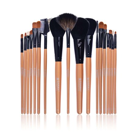 SHANY Makeup Brush Apron with Brushes - 18pc BJF Goat Hair with