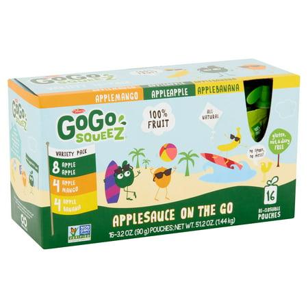 Gogo Squeez Tropical Fruit Assorted Apple Sauce  3 2 Oz  16 Ct