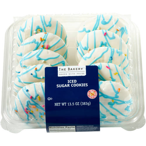 The Bakery at Walmart Iced Sugar Cookies, 10 count, 13.5 oz