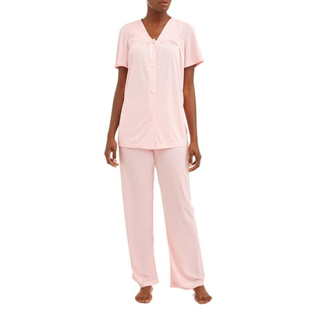 Lissome Women's and Women's Plus 2-Piece Pajama Set - Plus Size Onsie
