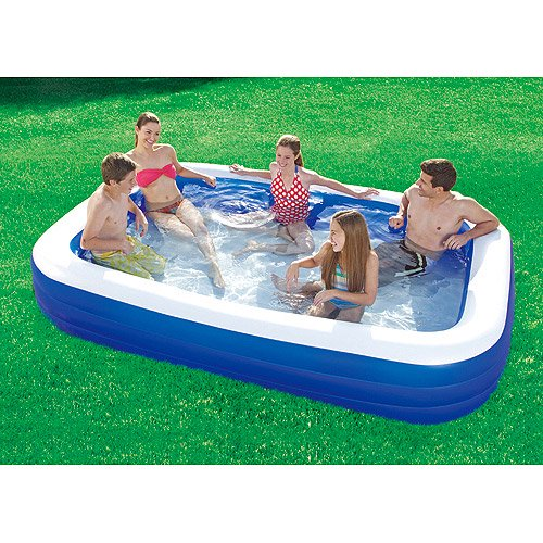 Summer Escapes 10 X 6 Inflatable Deluxe Family Swimming Pool Walmart Com Walmart Com