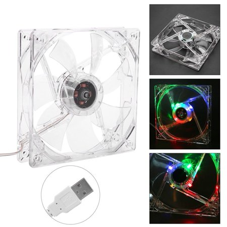 2 Pack 120mm Case Fan Cooling PC and Light Up Computer Case with