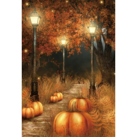 HelloDecor Polyster 5x7ft Halloween Pumpkin Lamp Photography Backdrop Family Newborn Photo Studio Prop - Halloween Family Photo Ideas