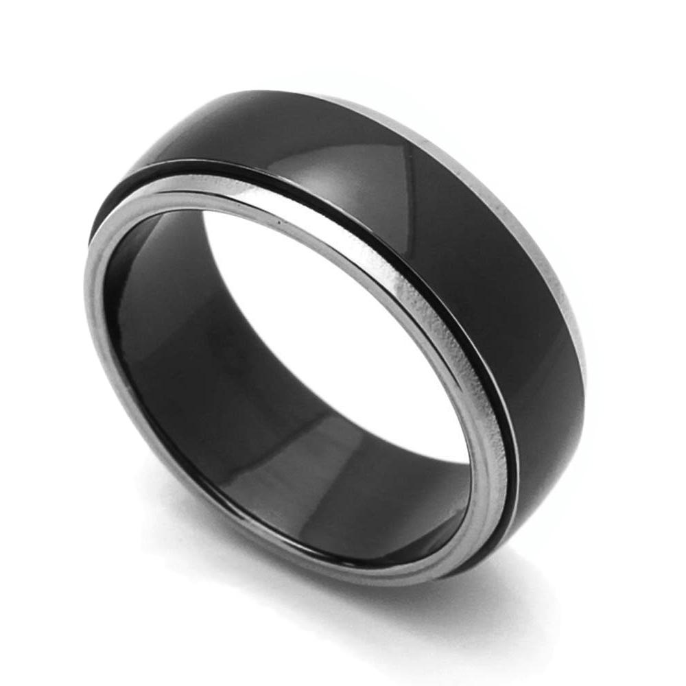 Comfort Fit 8mm 5.5 Titanium Fish Hook Ring