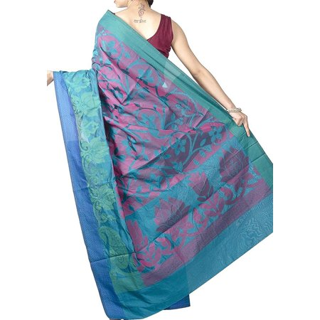 Women's One Pure Banarasi Weaves Saree Wrap Not Applicable