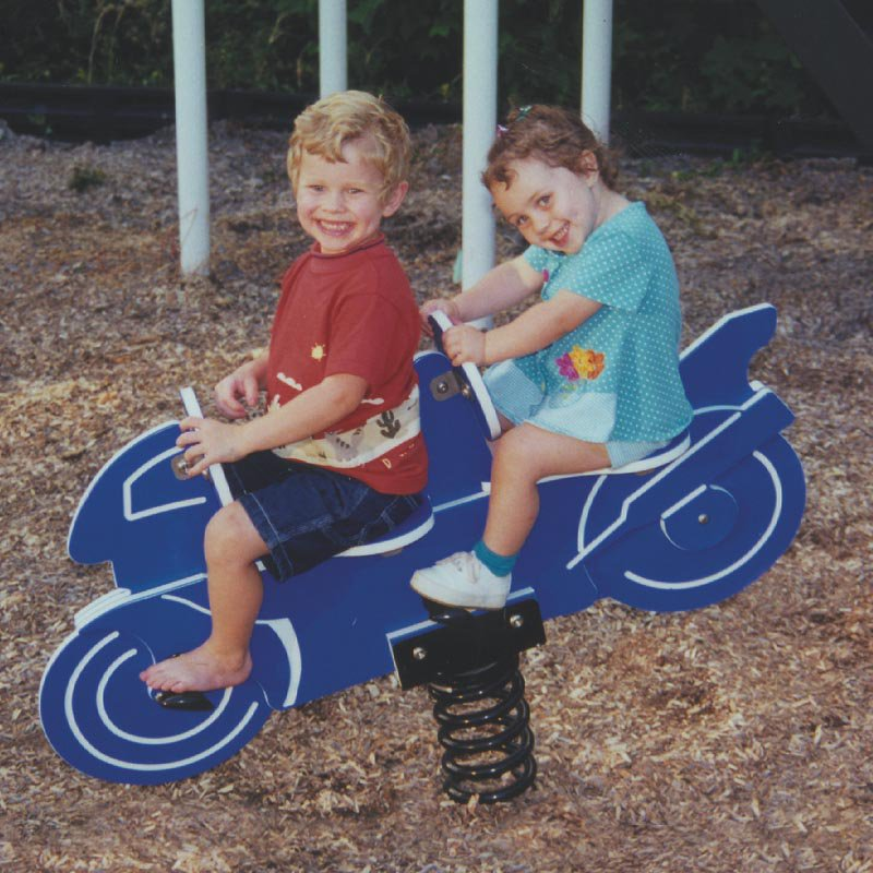 Child Forms Blue Motorcycle Spring Rider-2 Seat