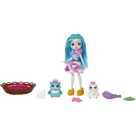 Girls Sleepover Set - Enchantimals Sleepover Night Owl Dolls