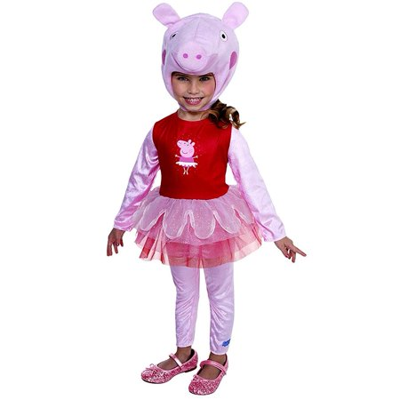 Peppa Pig Ballerina Costume Girls Toddler Kids size 2T Licensed Outfit Palamon - Baby Peppa Pig Costume