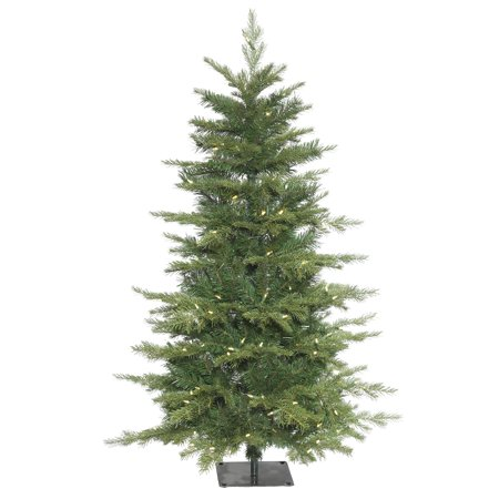 Vickerman Artificial Christmas Tree 4.5 x 32 Larkspur Fir Dura-Lit 150 Warm White Lights