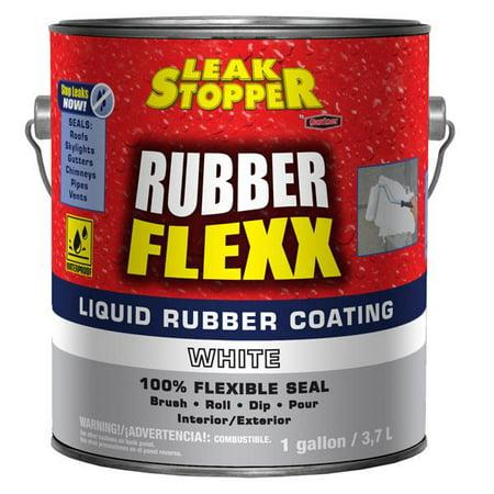 Leak Stopper 5578-1-20 Rubber Flexx Liquid Rubber Coating, White, 1 Gallon](White Runner)