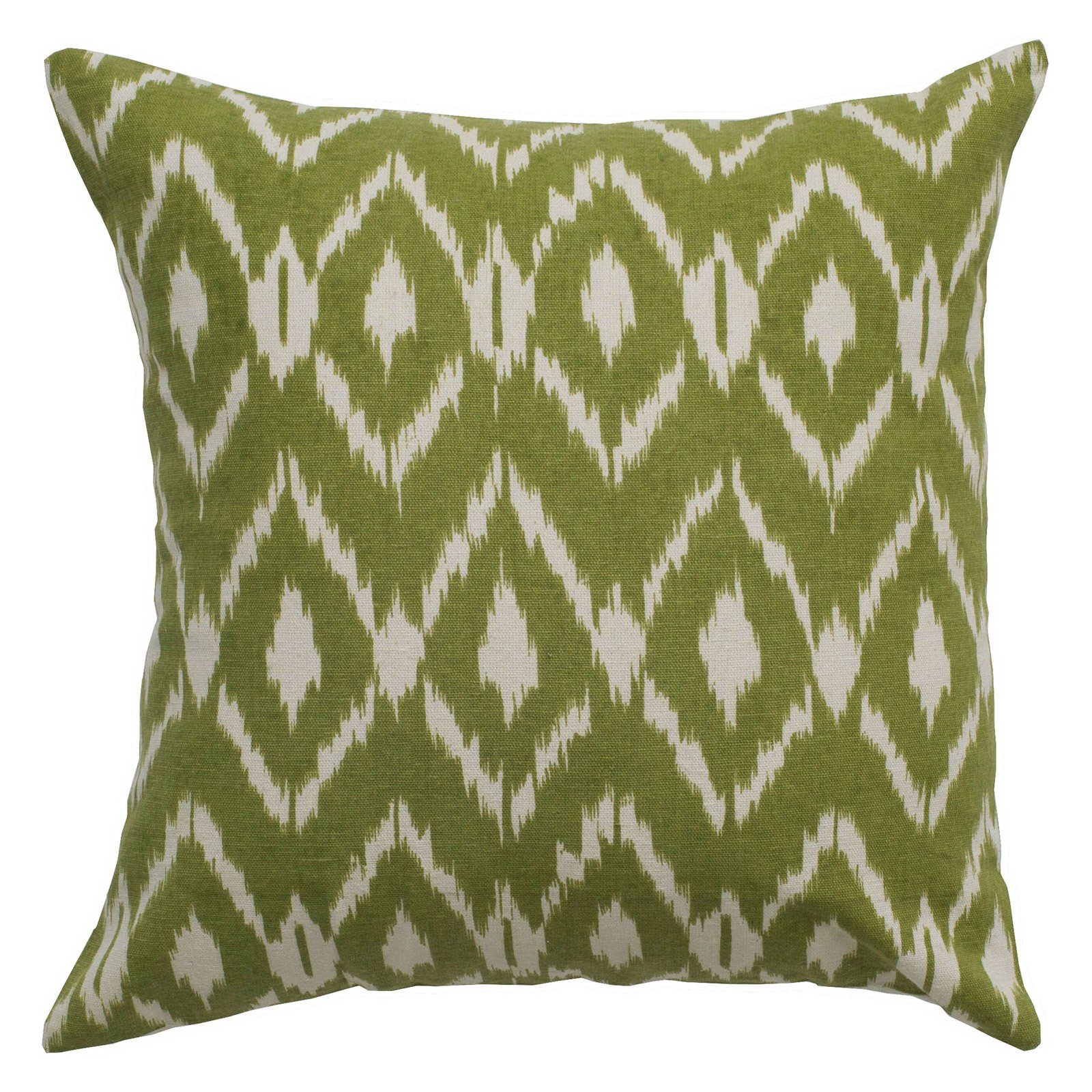 """Rizzy Home Fractured Ikat Cotton Decorative Throw Pillow, 18"""" x 18"""", Navy Blue"""