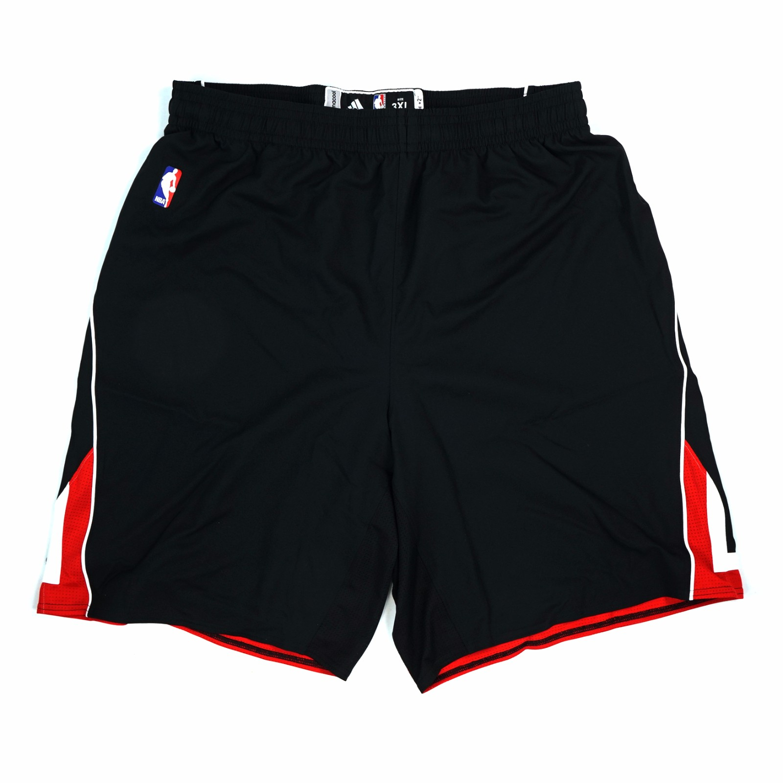 Chicago Bulls NBA Adidas Men's Black Official Authentic On-Court Climacool Shorts (3XLT)