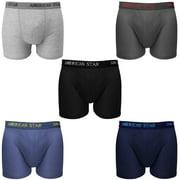 5-Pack Men's Boxer Briefs Underwear 100% Cotton Comfort