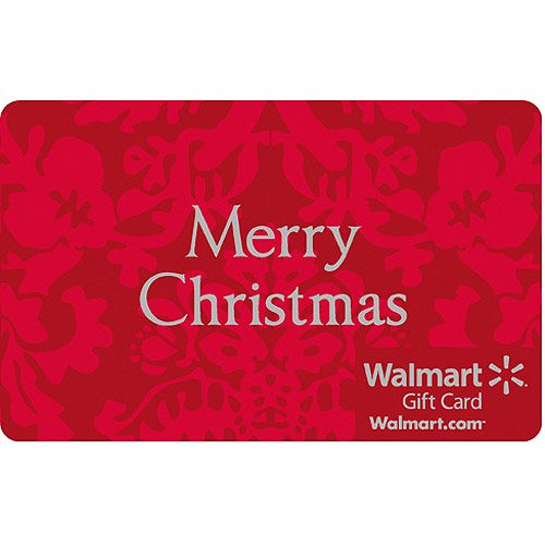 Red Merry Christmas Gift Card - Walmart.com