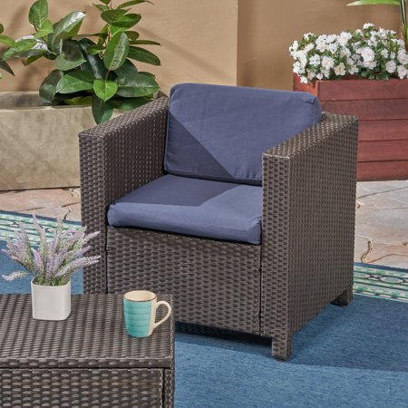 Mel Outdoor Patio Cushions For Club Chairs Weather Resistant Deep Seating Navy Blue