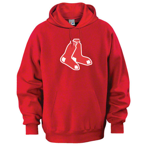 MLB - Boston Red Sox Red Tek Patch Hooded Sweatshirt