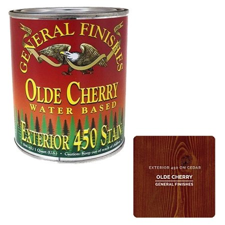 General Finishes, EXTERIOR 450 STAINS, Olde Cherry, Quart