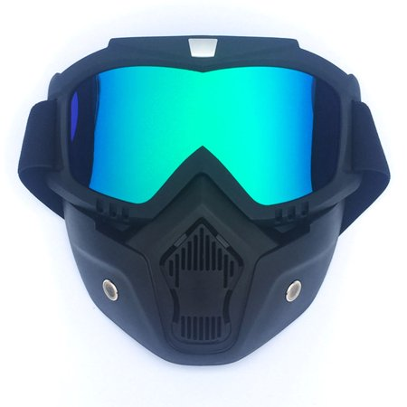 Motorcycle Goggles Sun Protection Motorcycle Riding Ski Snow Full Face Goggles Glasses Detachable for Motocross Helmet Color:Clear Lens - image 4 de 8