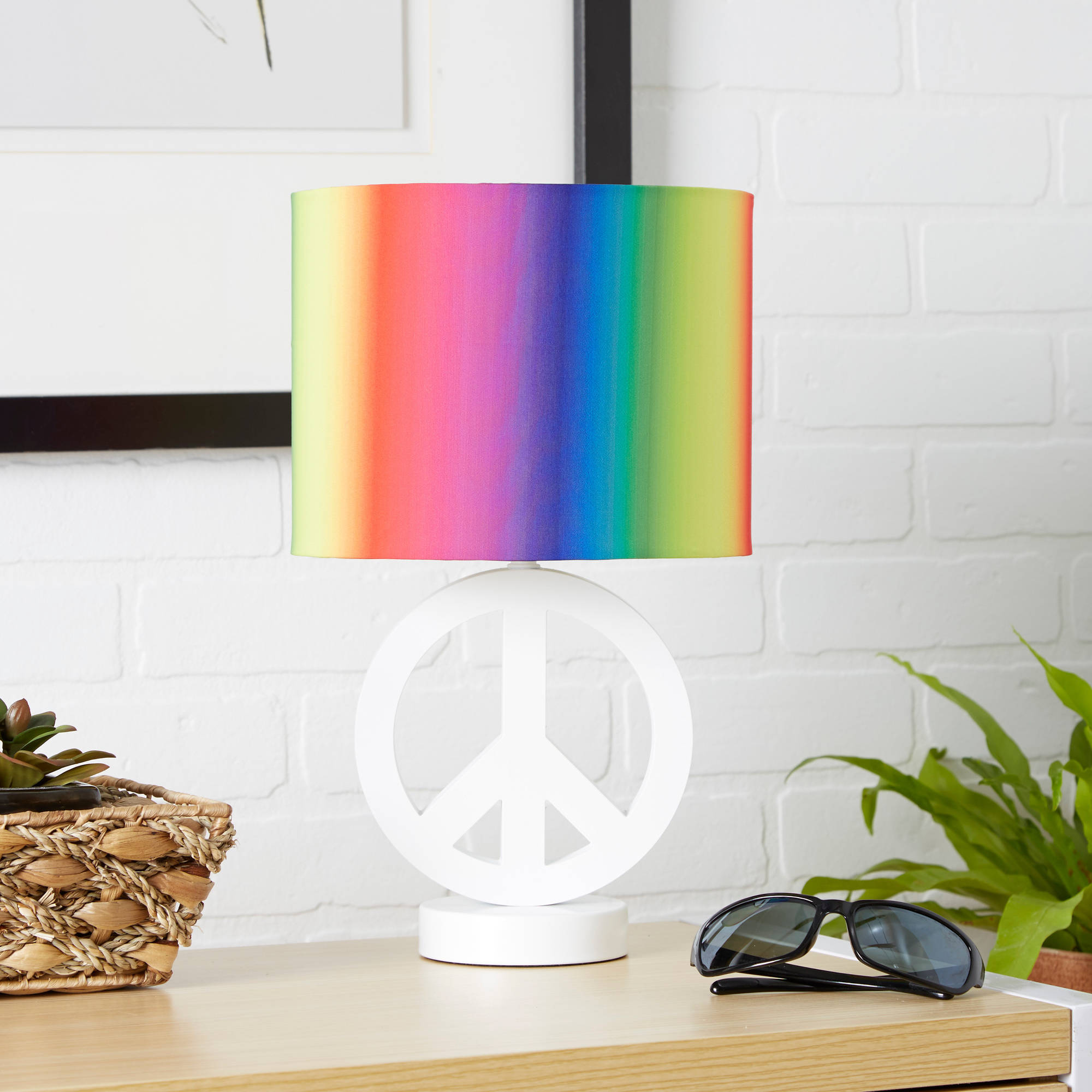 your zone peace sign lamp, arctic white