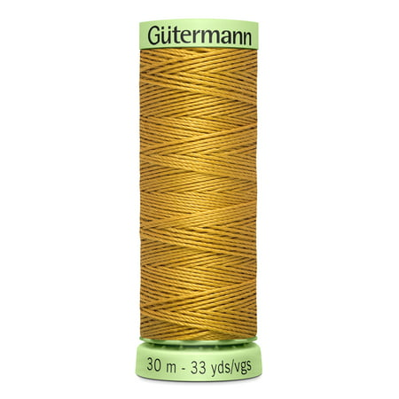 Pulled Thread Stitches - Gutermann Top Stitch Heavy-Duty Gold Thread, 33 Yd.