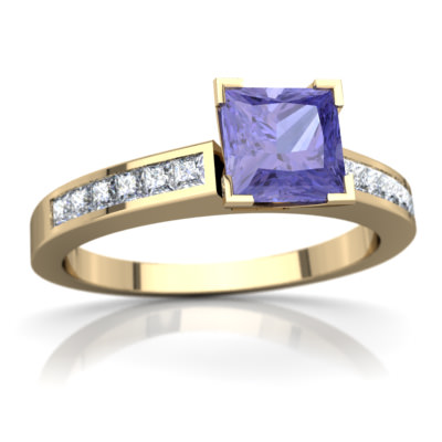 Tanzanite Channel Set Ring in 14K Yellow Gold by