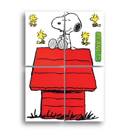 Giant Character Snoopy and Dog House Bulletin Board Sets (847611), Snoopy Thanksgiving Dimensional Punch 5Inch Board Reusable Challenges Charlie.., By Eureka