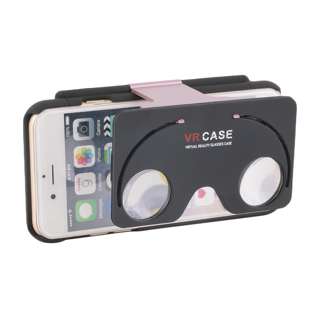 LESHP 2 in 1 3D Movie VR Virtual Reality Lens VR Case Glasses For iPhone 6/6s 4.7