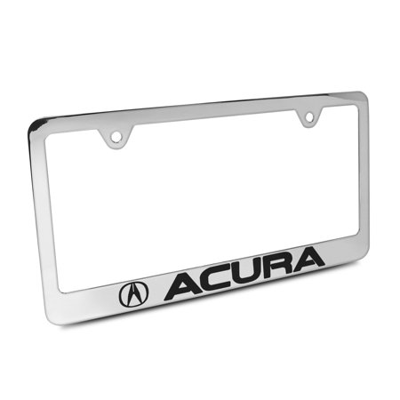 Acura Chrome Metal License Plate Frame With Acura Screw Covers - Acura license plate frame