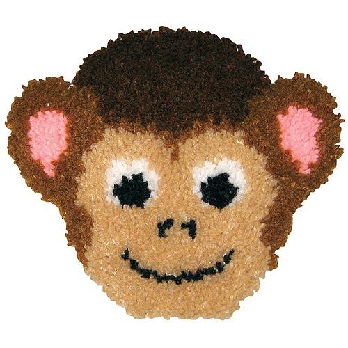 """Huggables Monkey Pillow Latch Hook Kit, 13"""" x 11"""""""