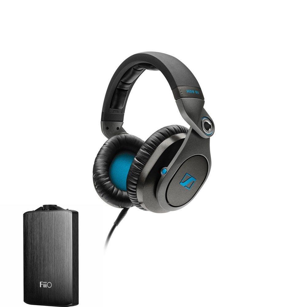 Sennheiser HD8 DJ Headphone + Fiio A3 Headphone Amplifier (Black) by Sennheiser