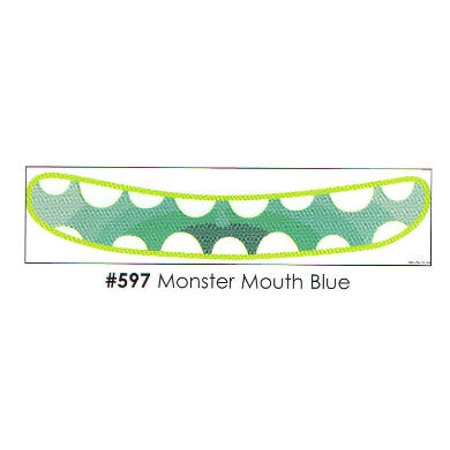 Monster Mouth Blue 3 Strips Edible Frosting Photo Cake Border Decoration - Decoration Border