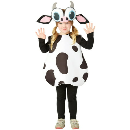 Big Eyed Cow Child Halloween Costume, One Size, (3-4) - Halloween Motion Sensor Eyes