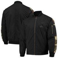 Boston Celtics JH Design Camo Patch Bomber Jacket - Black