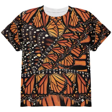 Halloween Monarch Butterfly Costume All Over Youth T - Halloween Monarch Butterfly Costume