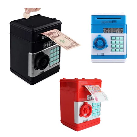 Great Gift Toy for Kids Code Electronic Piggy Banks Mini ATM Electronic Save Money Coin Bank Box for Children Password Lock case