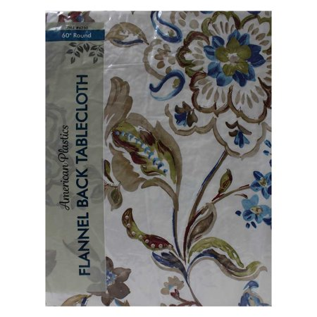 Tablecloth 60 Quot Multi Colored Multi Color Flowers Round