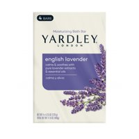 Yardley Moisturizing Bath Bar, English Lavender, 4.25 Ounce, 4 Bars