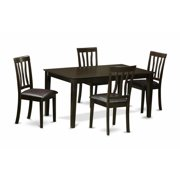 East West Furniture CAAN5-CAP-LC 5 Piece Dining Room Set-Dining Table and 4 Dining Room Chair