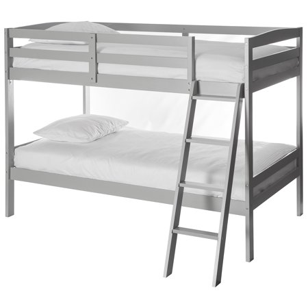 Dream On Me Mini Twin Over Twin Bunk Bed Grey
