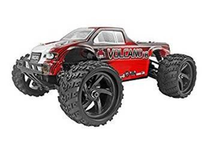 Redcat Racing Volcano-18 V2 Electric Monster Truck with Waterproof Electronics (1 18th Scale), Red by Redcat Racing