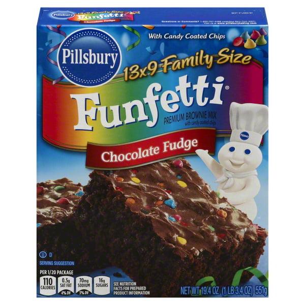 Pillsbury Funfetti Chocolate Fudge Premium Brownie Mix, 19.4 oz