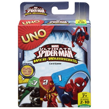 UNO Marvel Ultimate Spiderman Card (Male Game Cards)