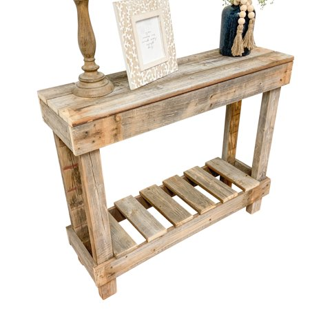 Del Hutson Farmhouse/Cottage Reclaimed Wood Sofa Table