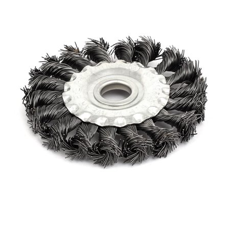 100mmx16mm Steel Twist Knotted Crimped Wire Wheel Brush Polishing Tool