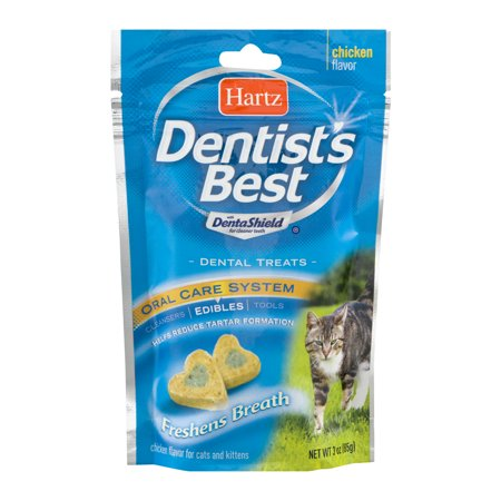 Hartz Dentist's Best Dental Cat Treats, 3 Oz.